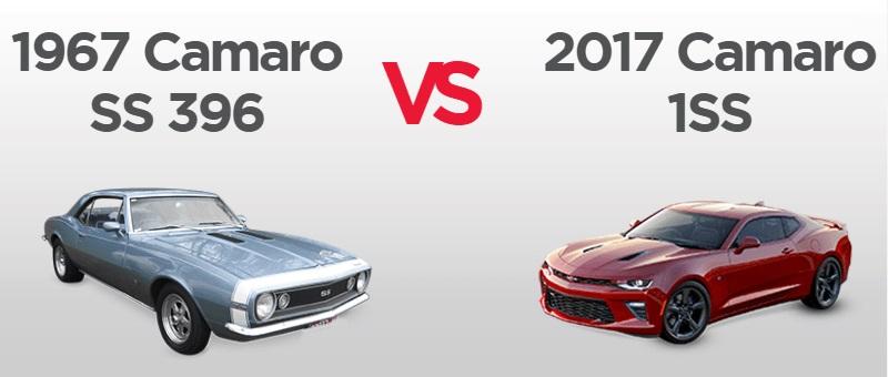 How the 2017 Camaro compares to the 1967 original