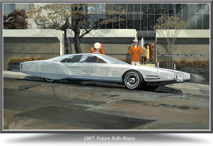 1967: Future Rolls Royce | Syd Mead art courtesy CarArt.us