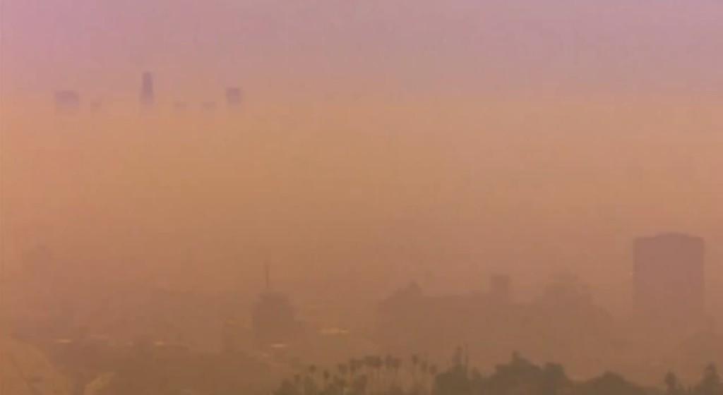 1970s Los Angeles smog depicted in the Honda short film