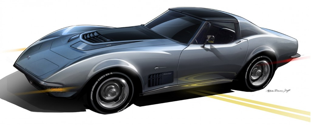 1971 Chevrolet Corvette Stingray personalized by Jimmie Johnson, 2014 SEMA show
