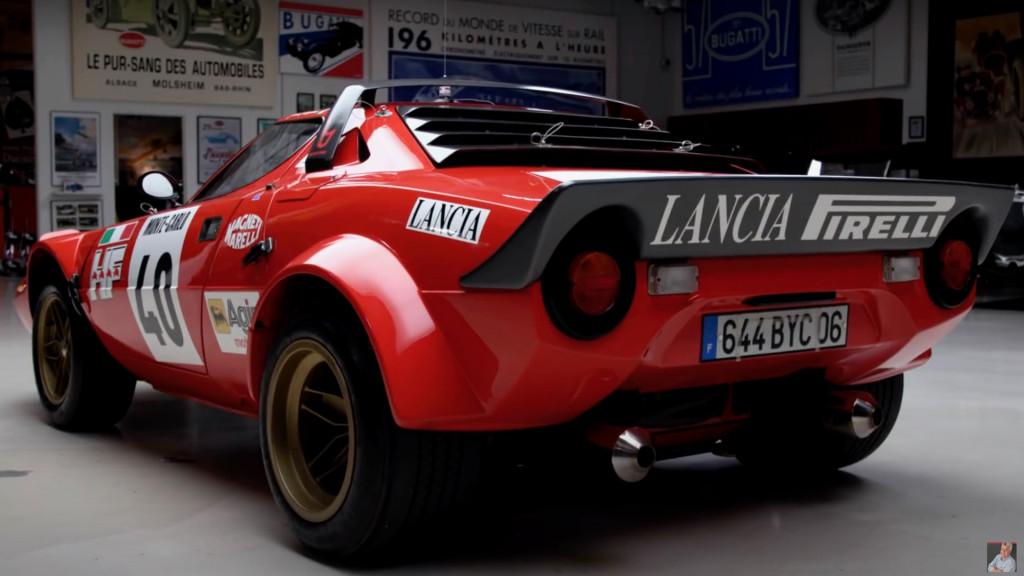 1975 Lancia Stratos HF en el garaje de Jay Leno