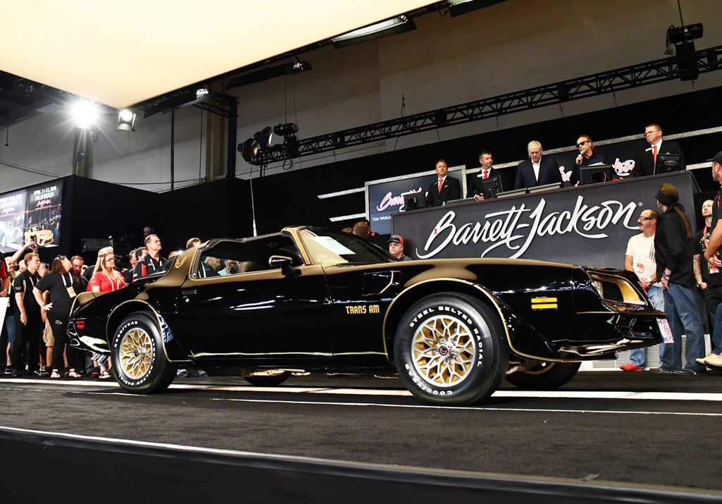"Trio of Burt Reynolds movie cars fetch $330,000 at auction, including ""Bandit"" Trans Am replica"