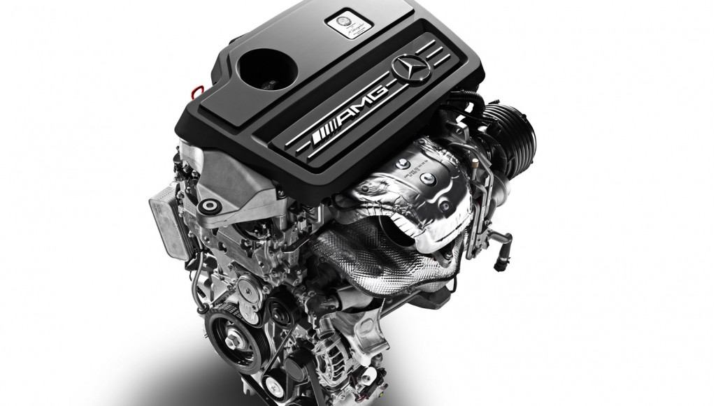 2.0-liter four-cylinder engine from AMG's compact range