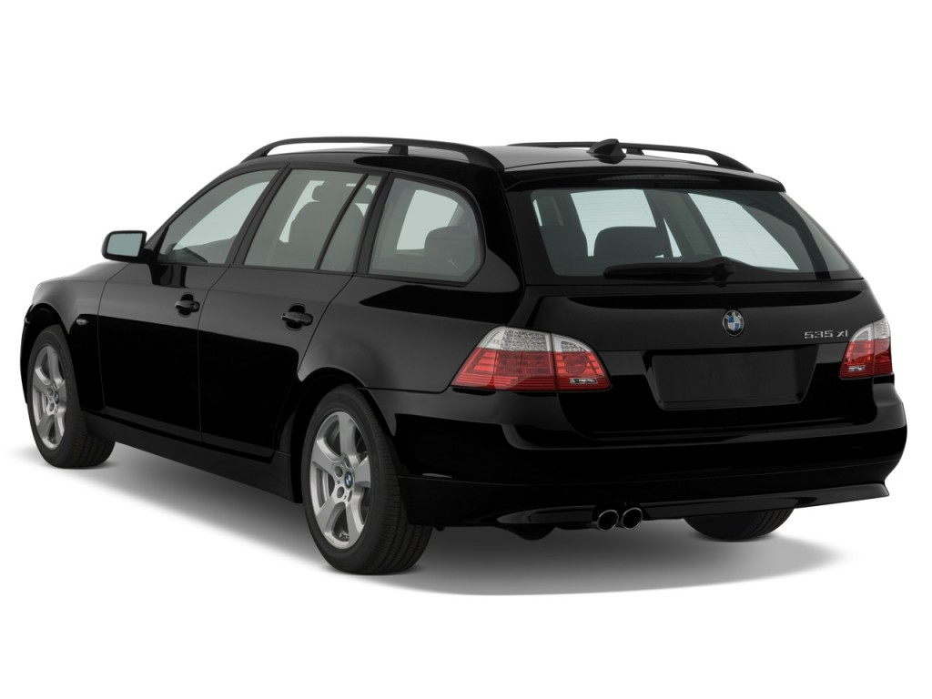 Image 2008 Bmw 5 Series 4 Door Sports Wagon 535xit Awd Angular Rear Exterior View Size 1024 X