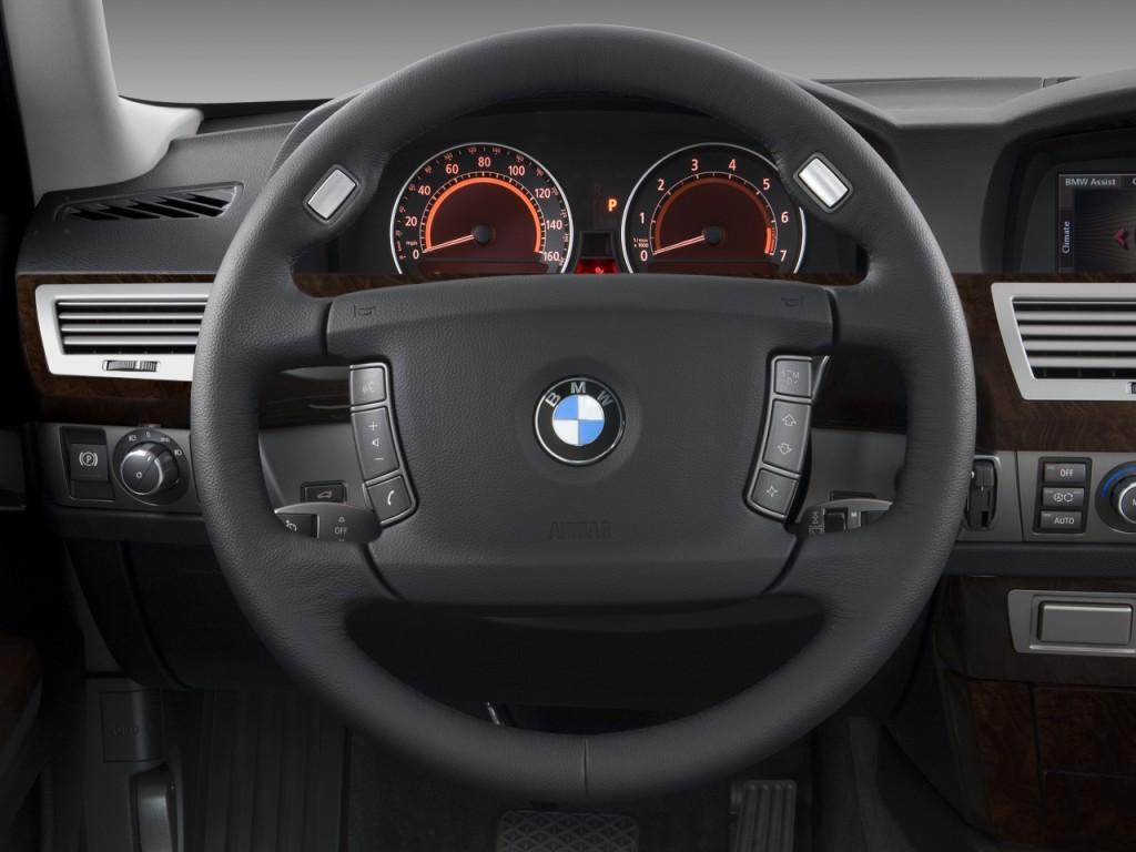 Image 2008 Bmw 7 Series 4 Door Sedan 750li Steering Wheel