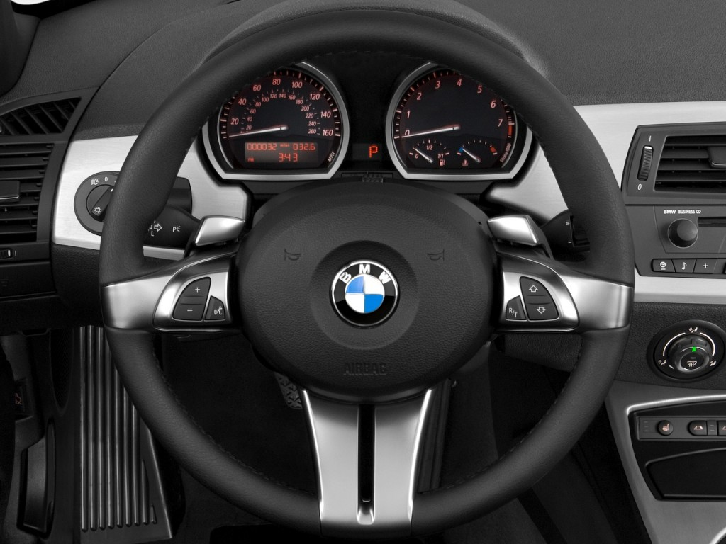 Image 2008 Bmw Z4 Series 2 Door Roadster 3 0si Steering