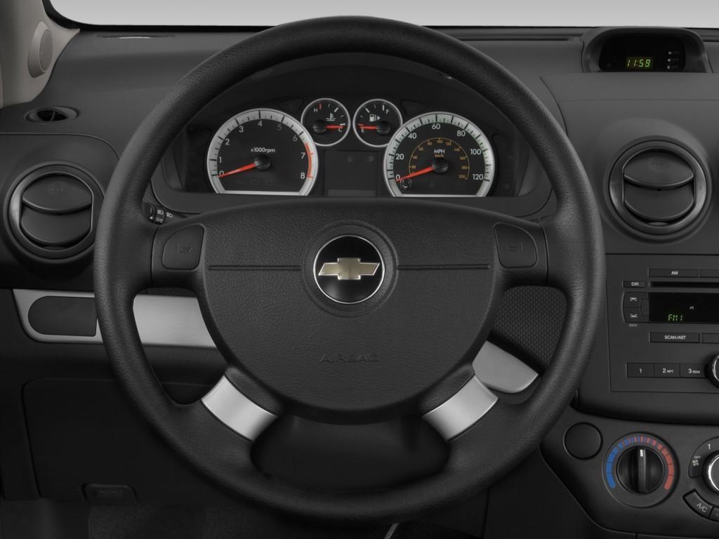 Image: 2008 Chevrolet Aveo 4-door Sedan LS Steering Wheel ...