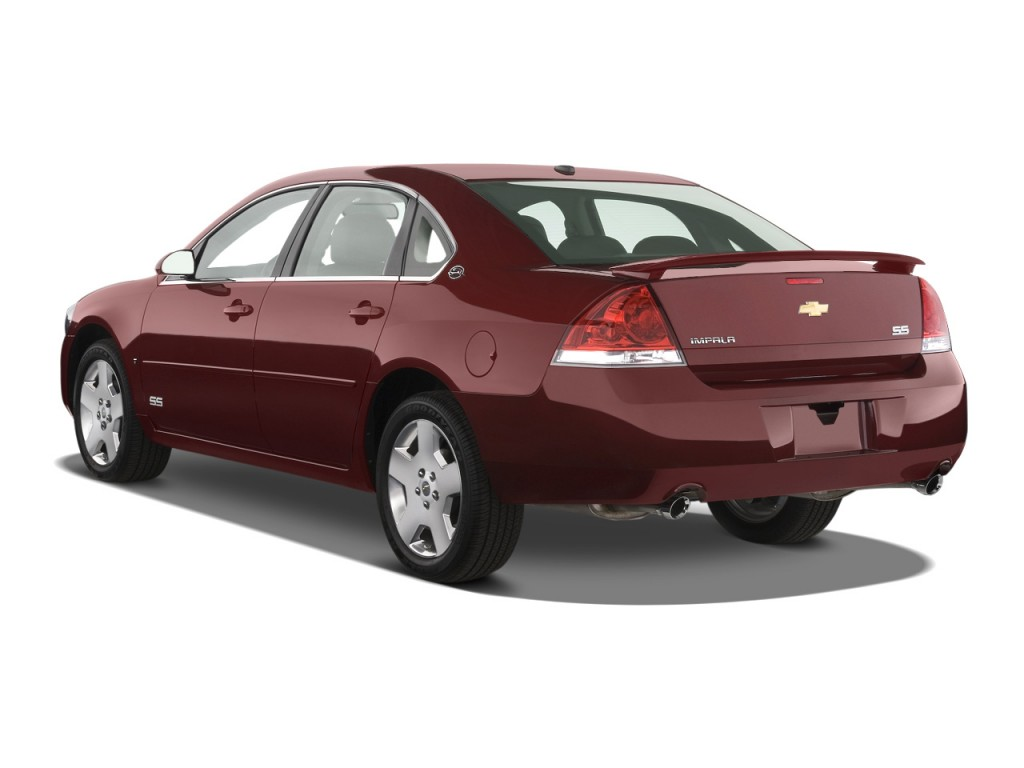 Image: 2008 Chevrolet Impala 4-door Sedan SS Angular Rear ...