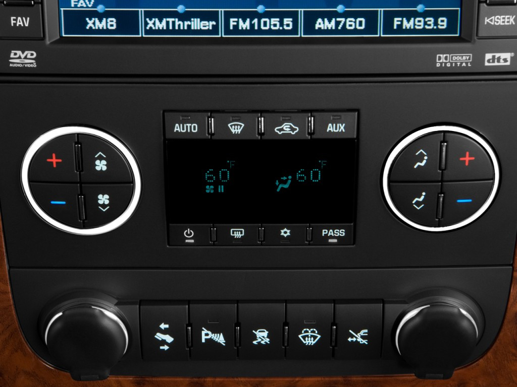 Image: 2008 Chevrolet Tahoe 2WD 4-door 1500 LTZ Temperature Controls, size: 1024 x 768, type ...