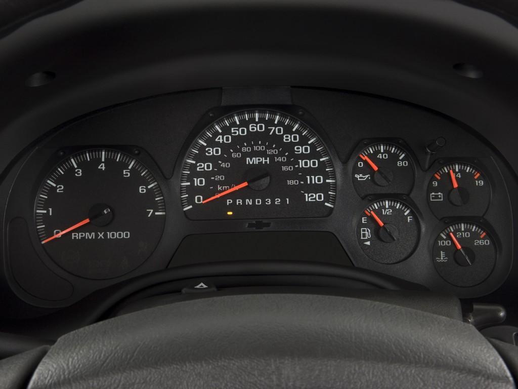 Image: 2008 Chevrolet TrailBlazer 2WD 4-door LT w/3LT Instrument Cluster, size: 1024 x 768, type ...