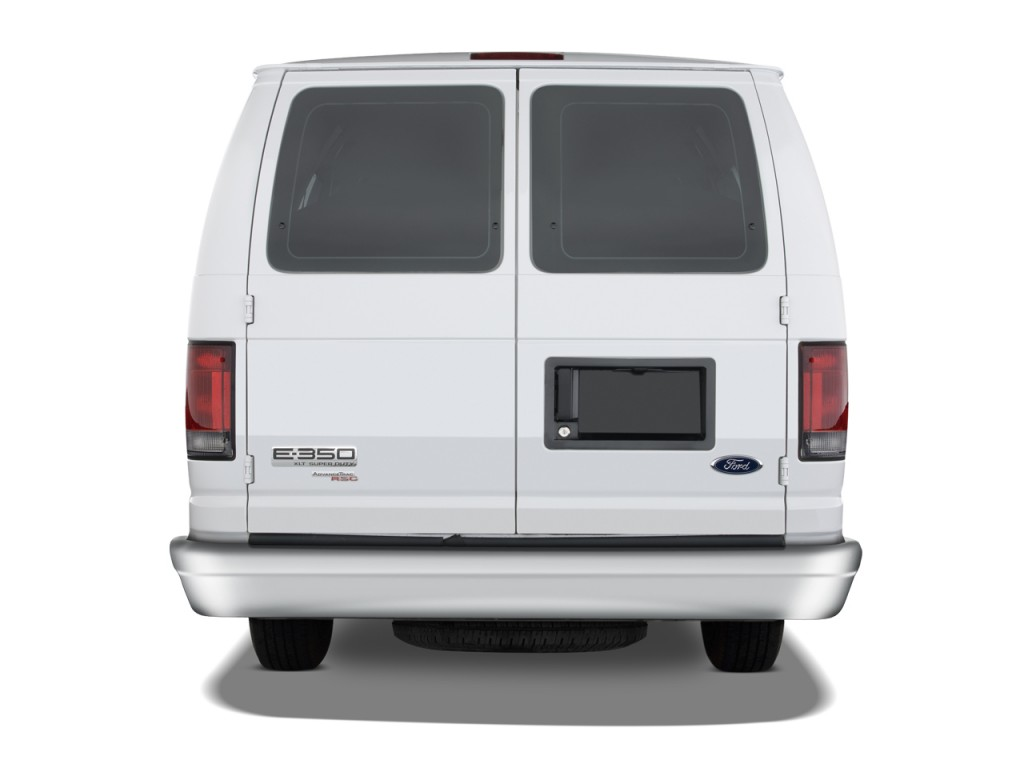 Ford Transit Wagon >> Image: 2008 Ford Econoline Cargo Van E-350 Super Duty Ext Recreational Rear Exterior View, size ...