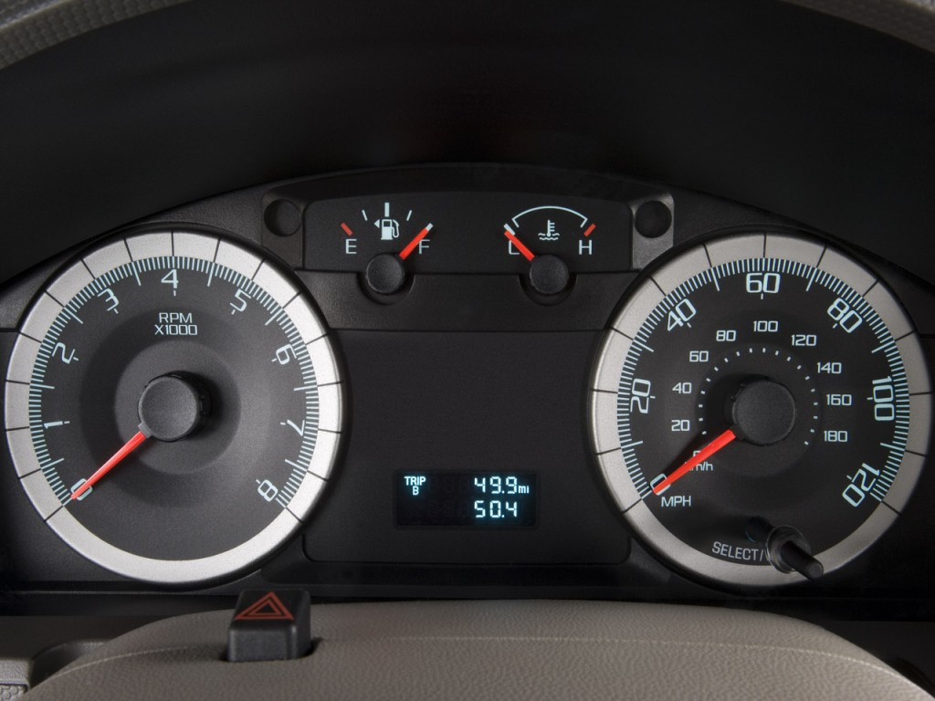 Nero Plug In Hybrid >> Image: 2008 Ford Escape FWD 4-door I4 Auto XLT Instrument Cluster, size: 1024 x 768, type: gif ...