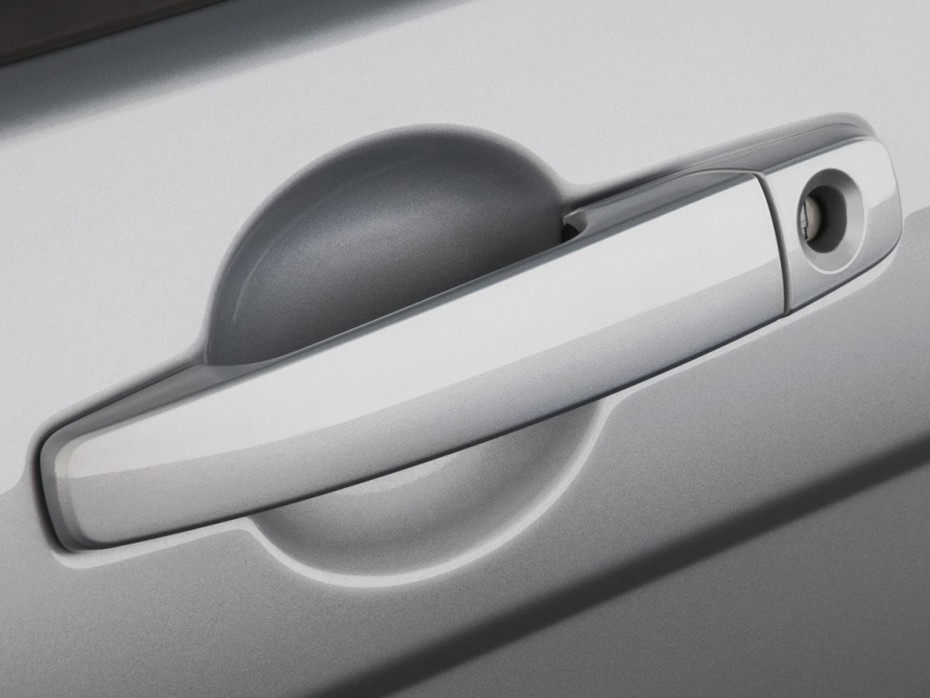 white car door handle