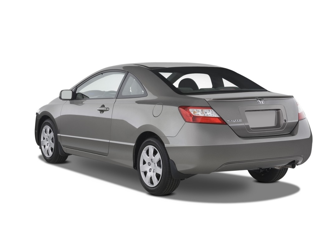Image: 2008 Honda Civic Coupe 2-door Auto LX Angular Rear ...