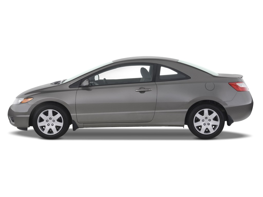 Image: 2008 Honda Civic Coupe 2-door Auto LX Side Exterior View, size: 1024 x 768, type: gif ...