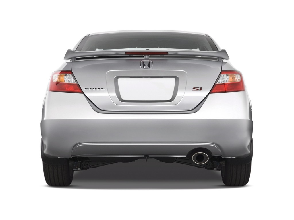 Image 2008 Honda Civic Coupe 2 Door Man Si Rear Exterior