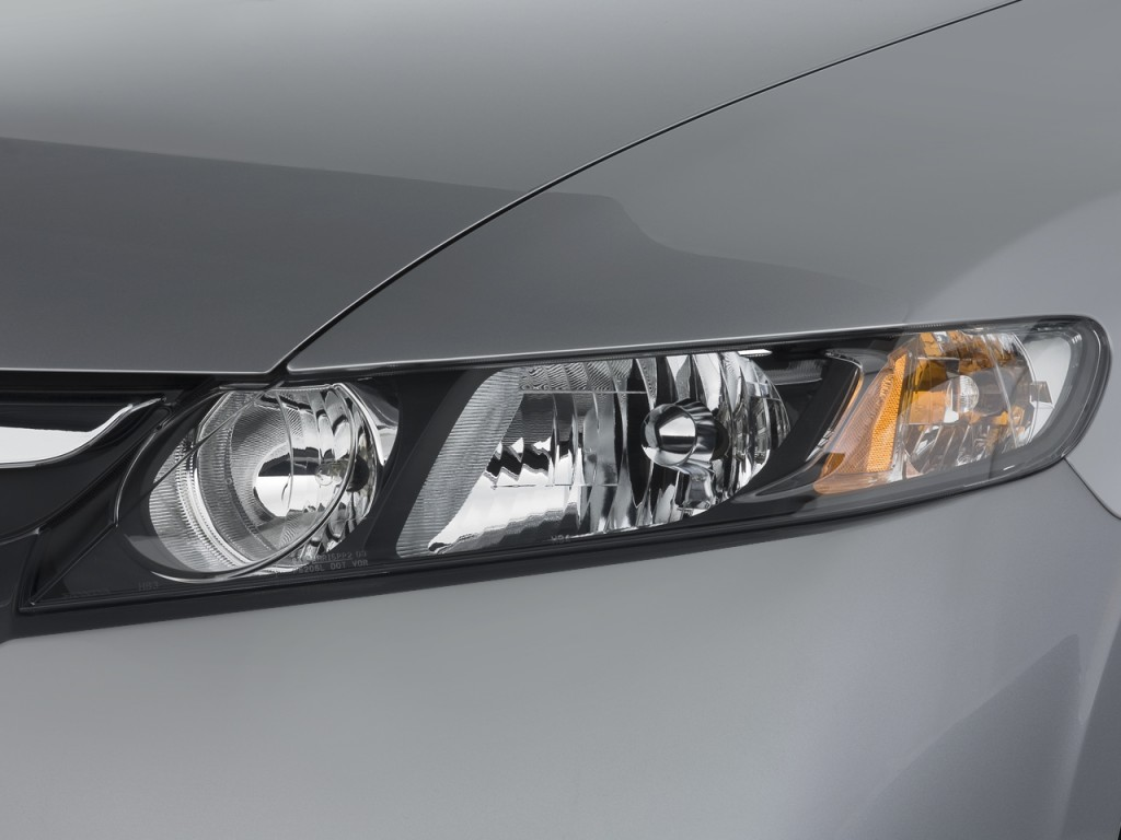 Image: 2008 Honda Civic Hybrid 4-door Sedan Headlight ...