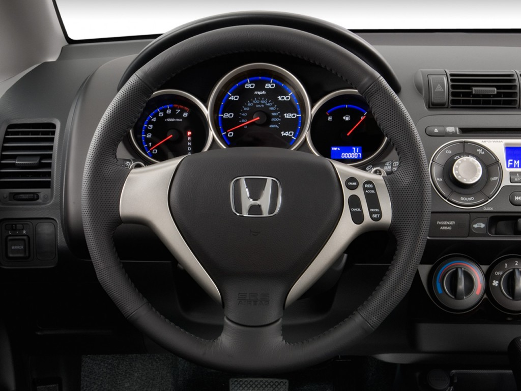 image 2008 honda fit 5dr hb auto sport steering wheel size 1024 x 768 type gif posted on. Black Bedroom Furniture Sets. Home Design Ideas