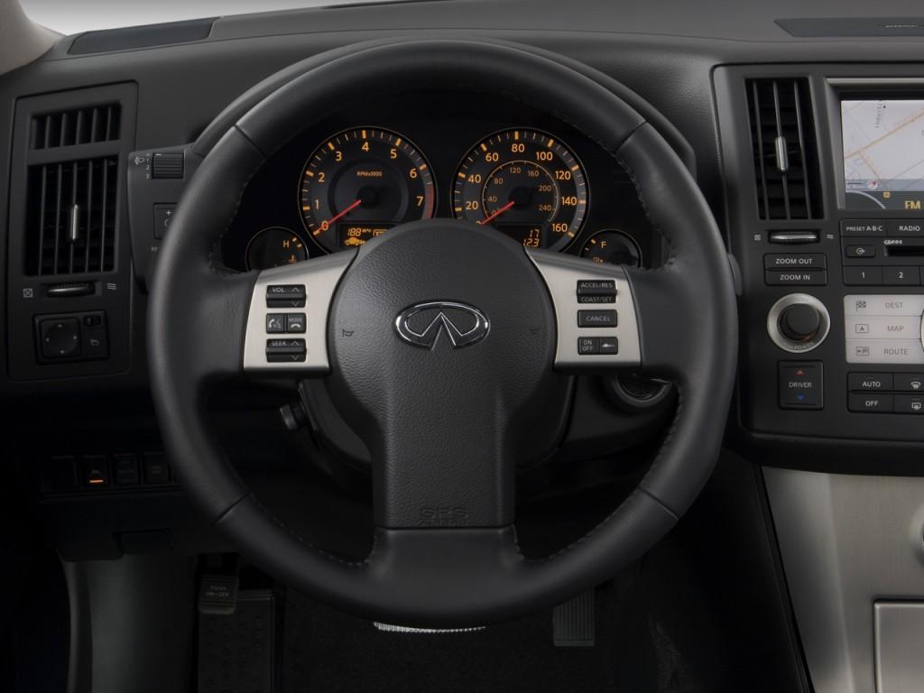 2008 infiniti fx35 rwd 4 door steering wheel
