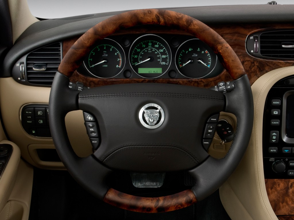 Image 2008 Jaguar Xj 4 Door Sedan Xj8 Steering Wheel
