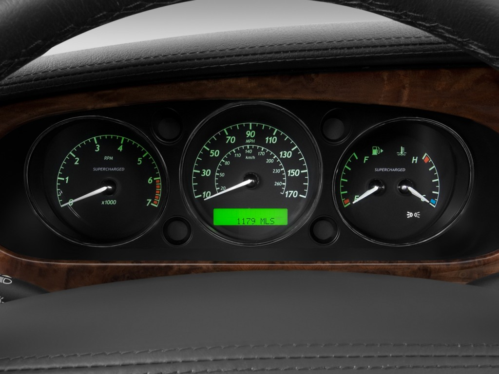Image: 2008 Jaguar XJ 4-door Sedan XJR Instrument Cluster ...