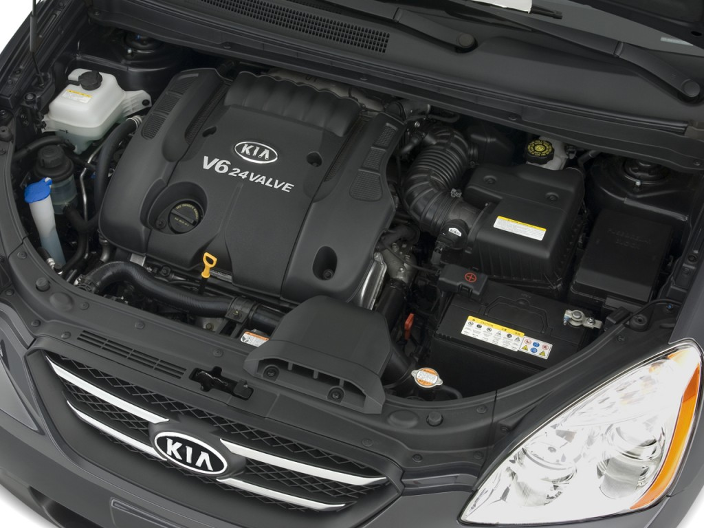 Image: 2008 Kia Rondo 4-door Wagon V6 EX Engine, size ...