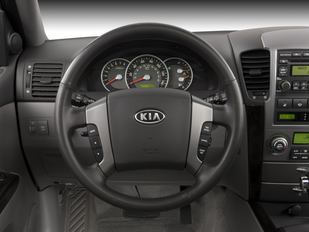 image 2008 kia sorento 4wd 4 door ex steering wheel size. Black Bedroom Furniture Sets. Home Design Ideas