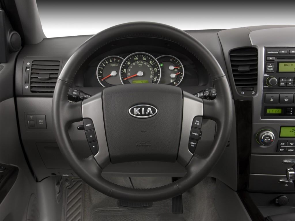 Image: 2008 Kia Sorento 4WD 4-door EX Steering Wheel, size ...