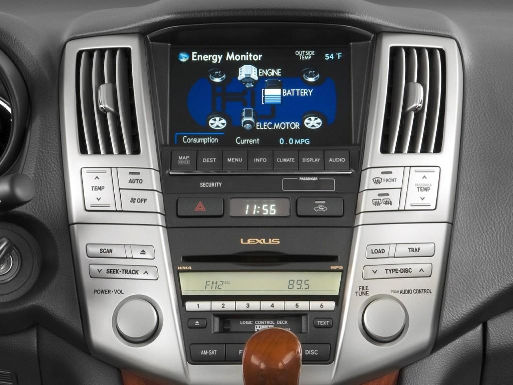 image 2008 lexus rx 400h fwd 4 door hybrid instrument. Black Bedroom Furniture Sets. Home Design Ideas