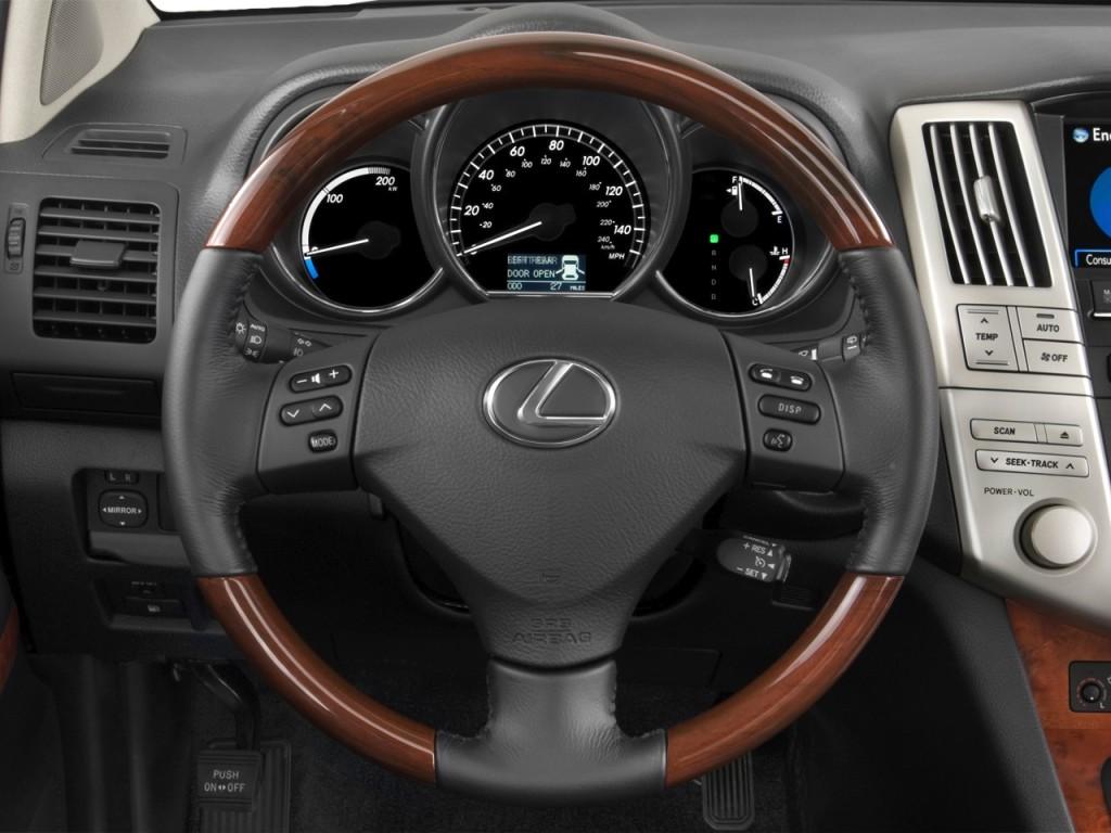 2008 lexus rx 400h fwd 4 door hybrid steering wheel
