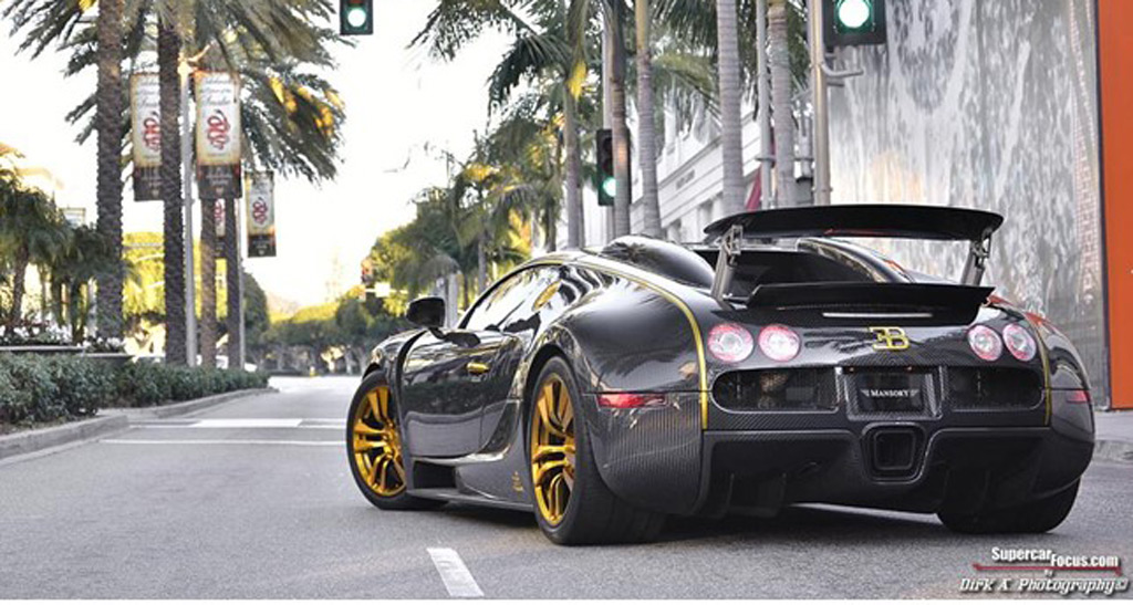 Gold and black bugatti