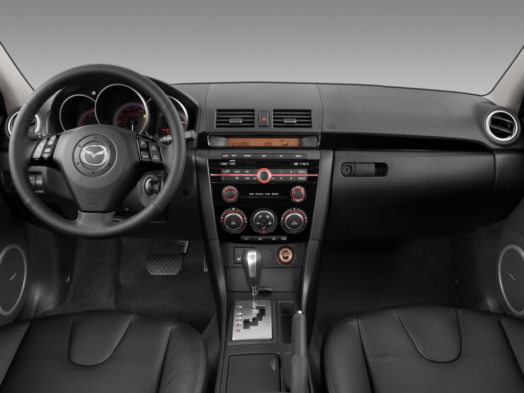 Image: 2008 Mazda MAZDA3 4-door Sedan Auto s Grand Touring Dashboard, size: 1024 x 768, type ...