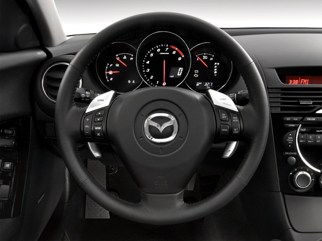 image 2008 mazda rx 8 4 door coupe auto grand touring steering wheel size 1024 x 768 type. Black Bedroom Furniture Sets. Home Design Ideas