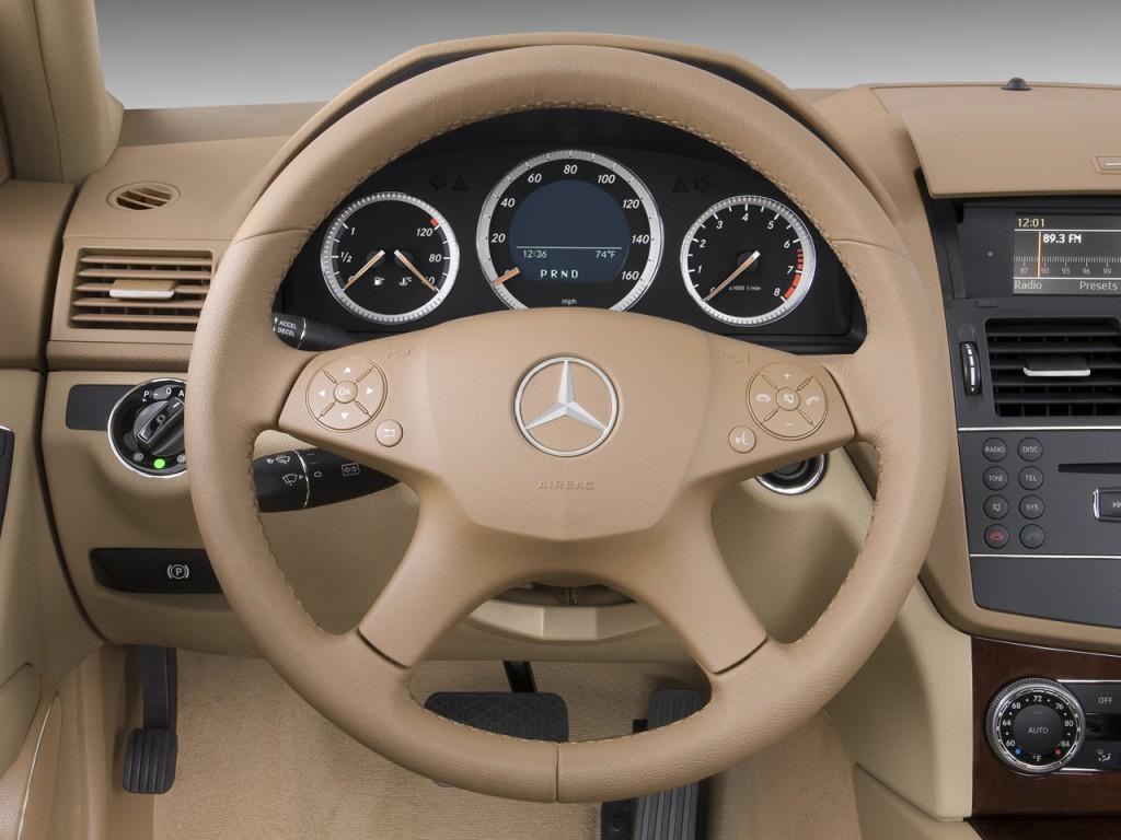 Image 2008 Mercedes Benz C Class 4 Door Sedan 3 0l Luxury Rwd Steering Wheel Size 1024 X 768