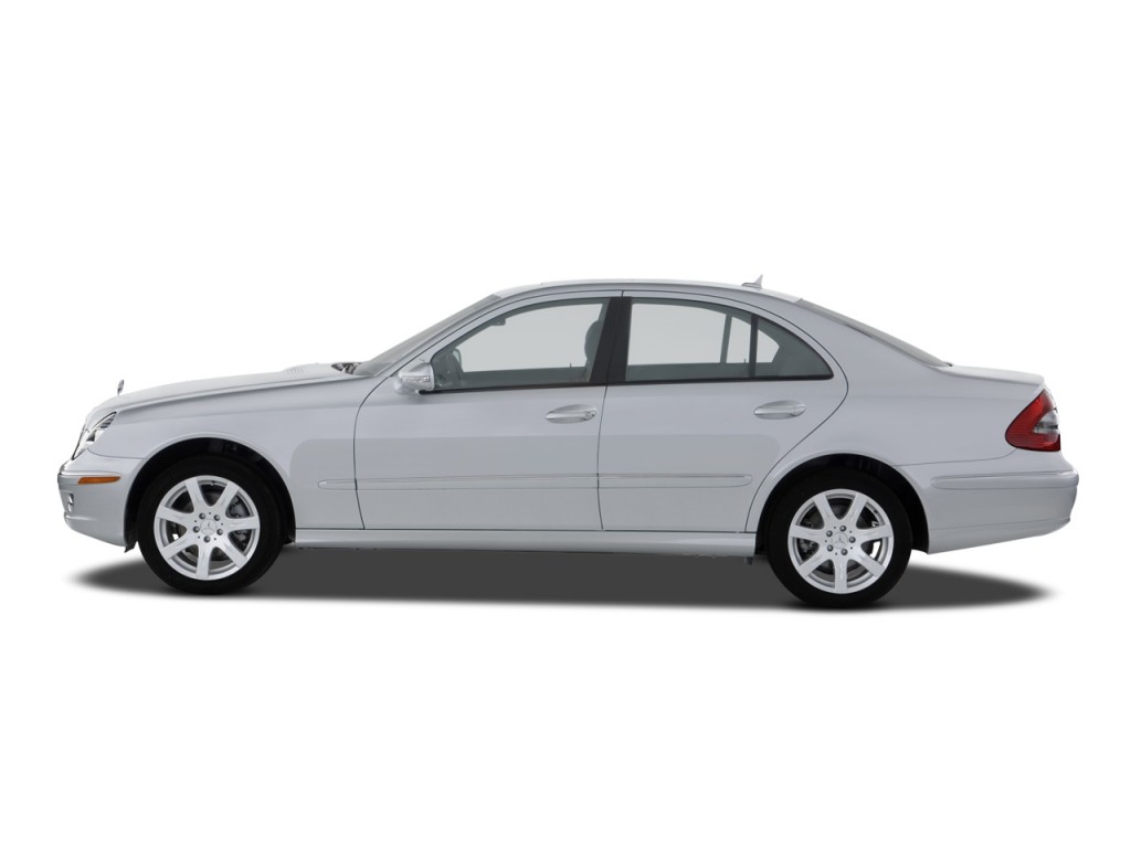 image 2008 mercedes benz e class 4 door sedan luxury 3 5l rwd side exterior view size 1024 x. Black Bedroom Furniture Sets. Home Design Ideas