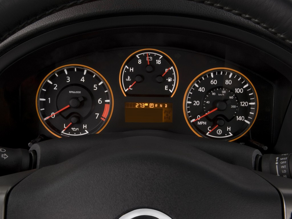 2004 Nissan 350Z Coupe >> Image: 2008 Nissan Armada 2WD 4-door LE Instrument Cluster ...