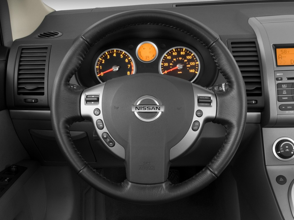 image 2008 nissan sentra 4 door sedan cvt 2 0s steering. Black Bedroom Furniture Sets. Home Design Ideas
