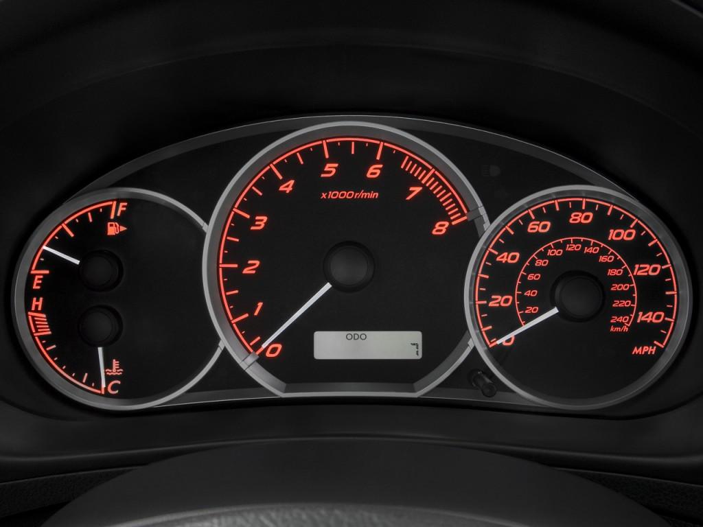 Minivans For Sale >> Image: 2008 Subaru Impreza 4-door Man WRX Instrument Cluster, size: 1024 x 768, type: gif ...