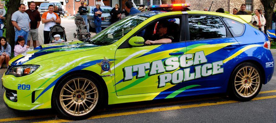 2008 Subaru WRX STI police car, Itasca, Illinois