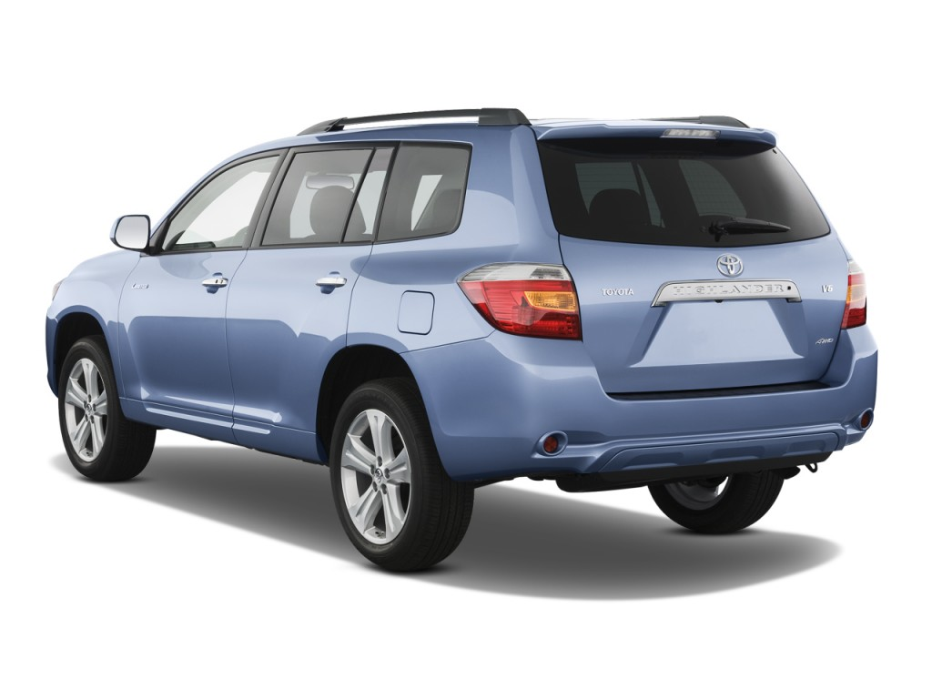 2008 Toyota Highlander 4WD 4-door Limited (Natl) Angular Rear Exterior View