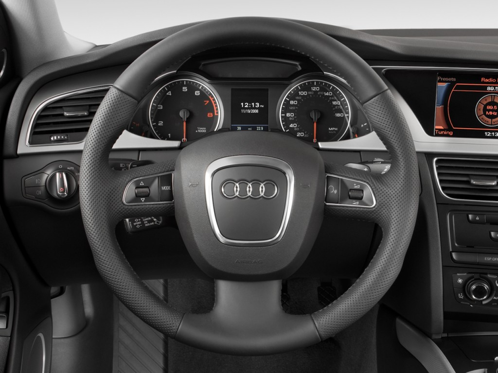 Image 2009 Audi A4 4 Door Wagon Auto 2 0t Quattro Prestige Steering Wheel Size 1024 X 768