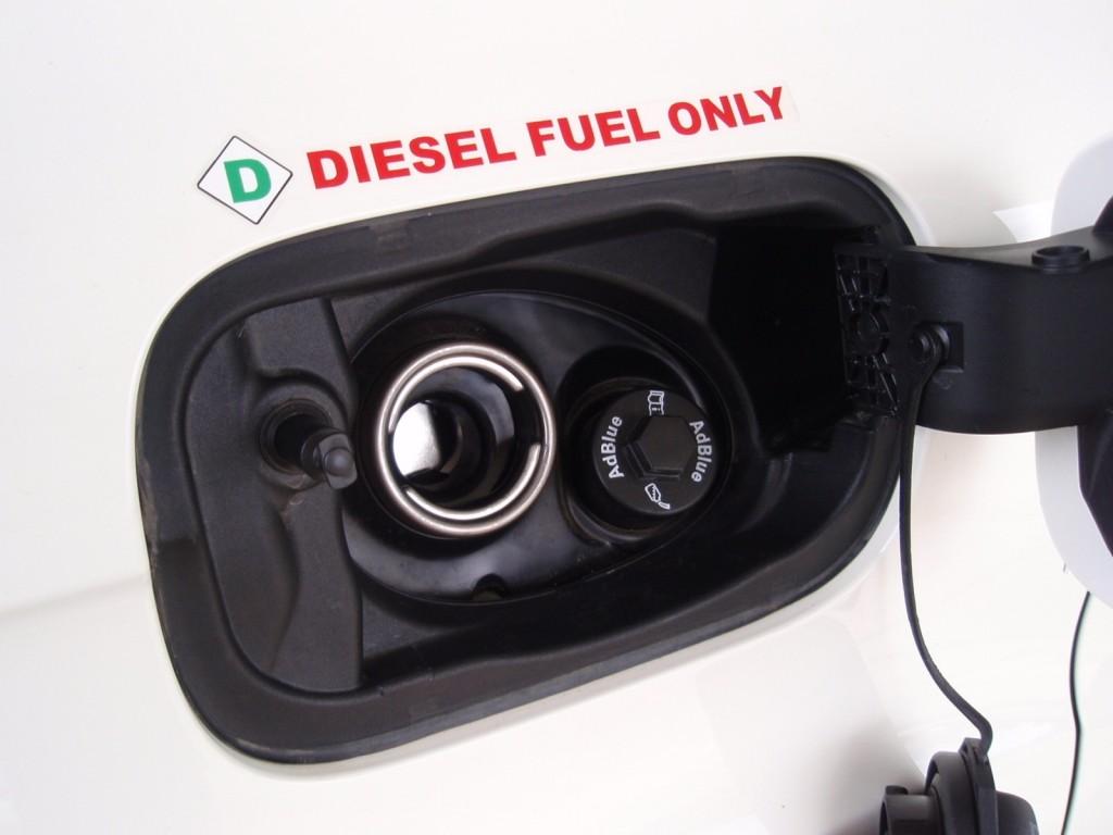 diesel and AdBlue fillers in Audi Q7 TDI