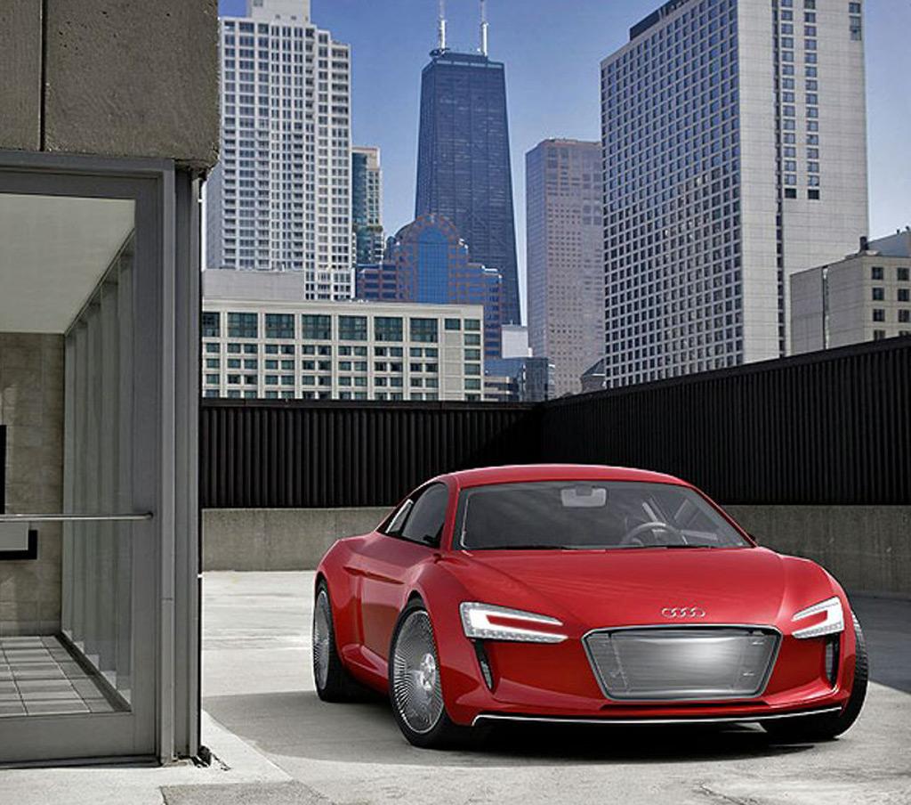 Image: 2009 Audi R8 E-Tron Concept, Size: 1024 X 904, Type