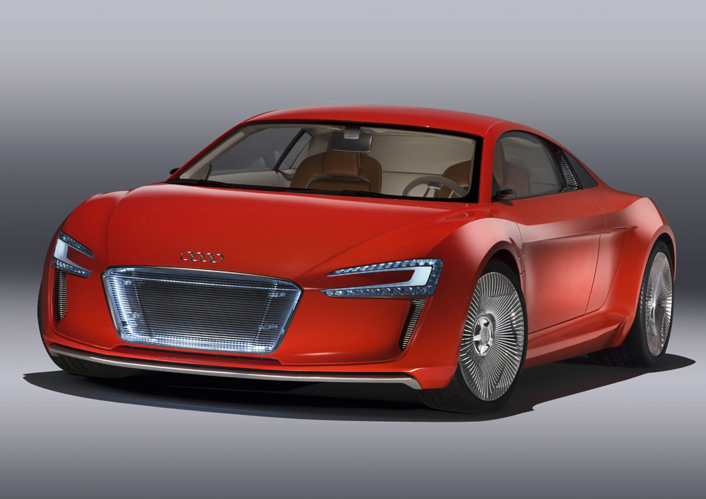 audi r8 e tron spy video all electric supercar on the road. Black Bedroom Furniture Sets. Home Design Ideas