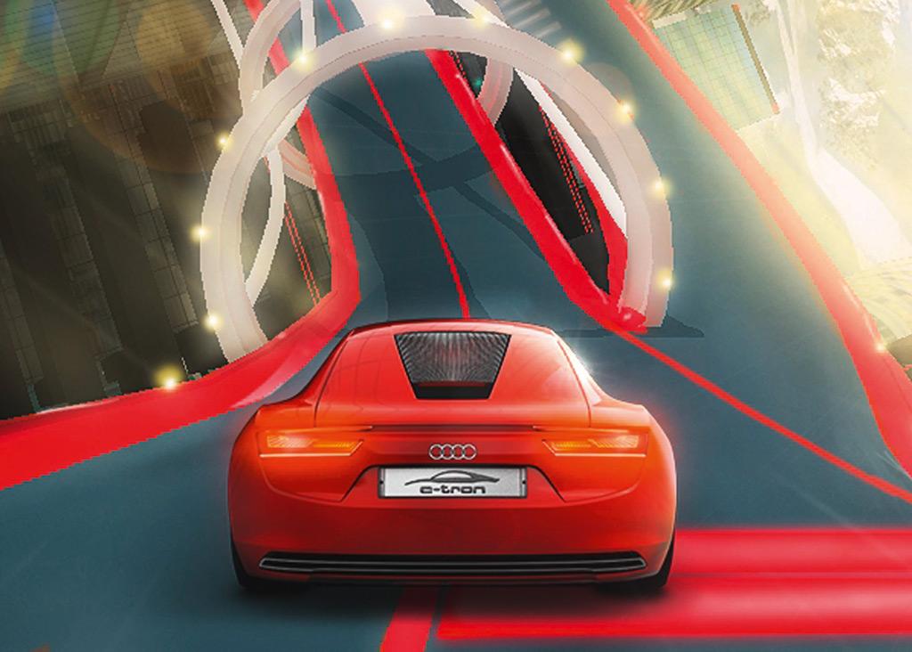 2009 Audi R8 E-Tron Virtual Concept