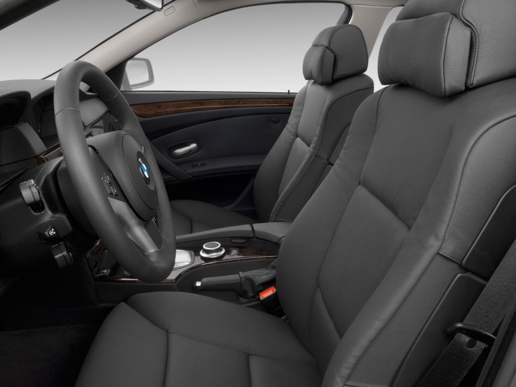 Image 2009 Bmw 5 Series 4 Door Sedan 550i Rwd Front Seats