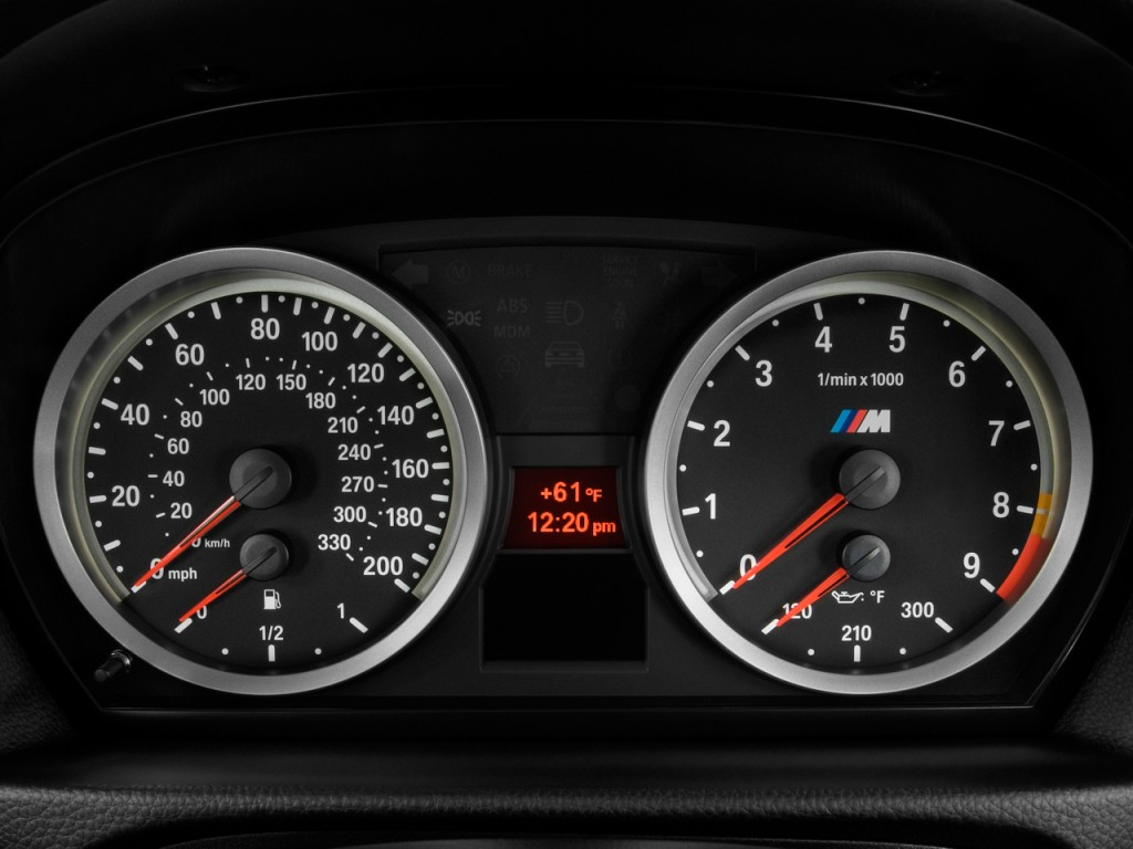 image: 2009 bmw m3 4-door sedan instrument cluster, size: 1024 x