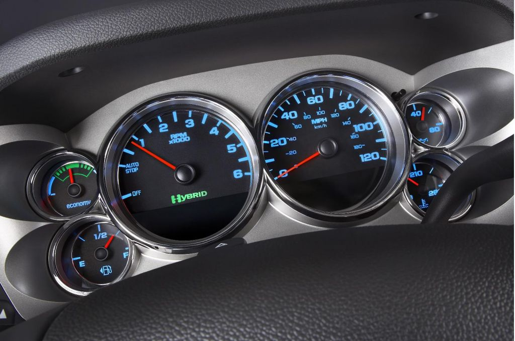 Image: 2009 Chevrolet Silverado Hybrid - dashboard, size ...