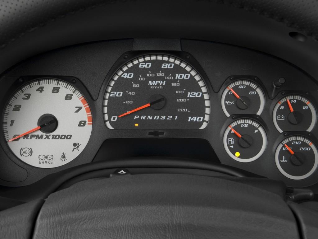 Image: 2009 Chevrolet TrailBlazer 2WD 4-door SS Instrument Cluster, size: 1024 x 768, type: gif ...