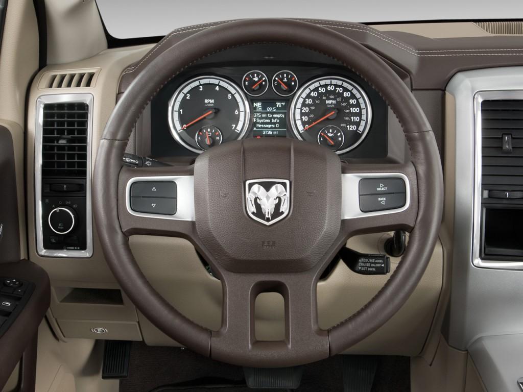 "Toyota Of Laramie >> Image: 2009 Dodge Ram 1500 2WD Crew Cab 140.5"" Laramie Steering Wheel, size: 1024 x 768, type ..."